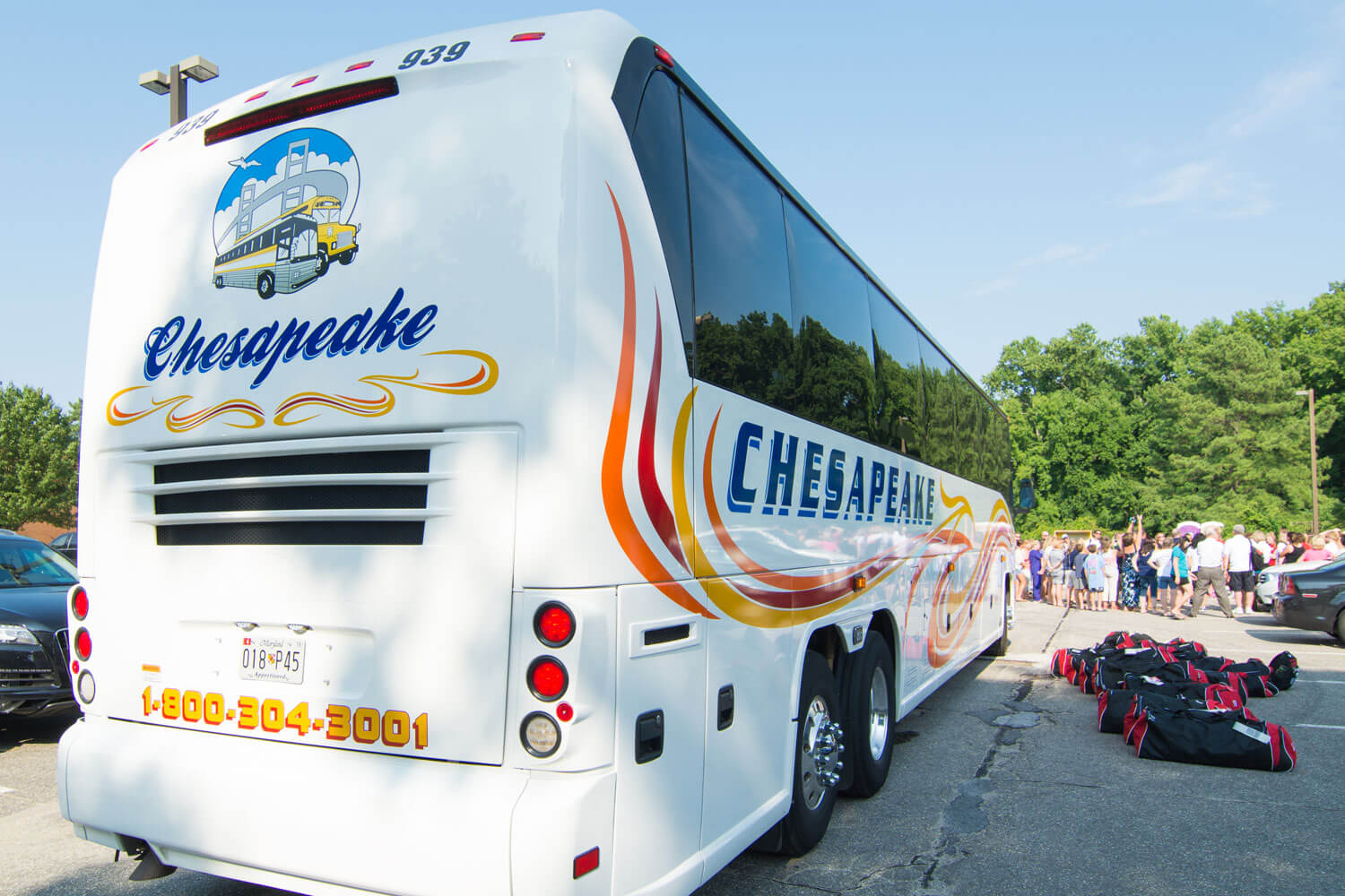 charter a bus chesapeake