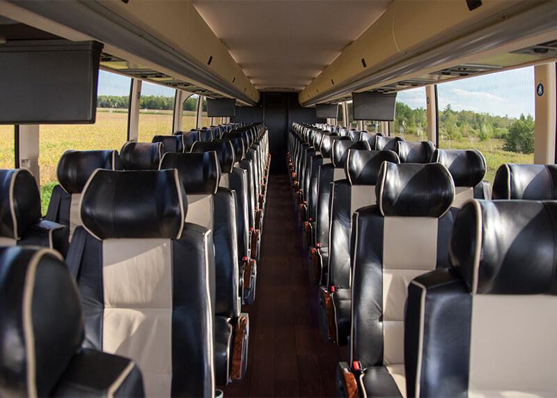 charter a bus interior